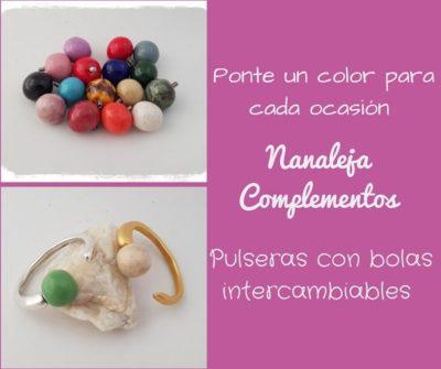 Pulseras con bolas intercambiables de cerámica