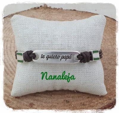 Pulsera te quiero papá con bandera de Andalucía