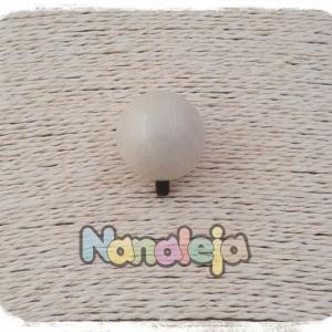 Bola de cerámica blanco roto para pulsera Cádiz (intercambiable)