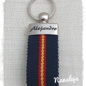 Llavero España con nombre grabado